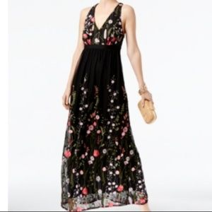 Inc International Concepts Embroidered Maxi Dress
